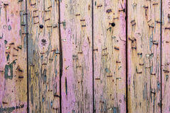 Colorful weathered wooden planks Royalty Free Stock Photos