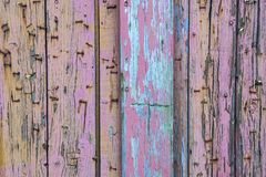 Colorful weathered wooden planks Stock Photos