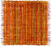 Colorful weave grunge striped  carpet with  fringe in indian style Royalty Free Stock Image