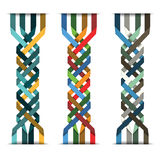 Colorful weave Stock Images