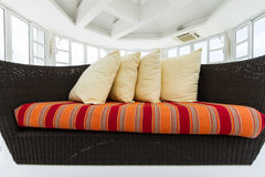 Colorful weave sofa Royalty Free Stock Images