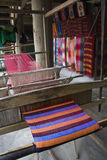 Colorful Weaving. The art of weaving in Vietnam Stock Photo