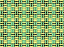 Colorful weaving pattern. Colorful background of green and yellow weaving pattern royalty free illustration
