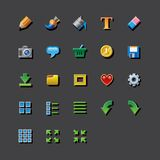Colorful web app graphic editor tools icons Stock Photography