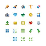 Colorful web app graphic editor tools icons on Royalty Free Stock Photos