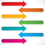 Colorful web arrow Royalty Free Stock Images