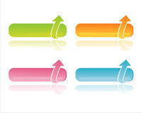 Colorful web banners. Set of 4 colorful web banners Royalty Free Stock Photo