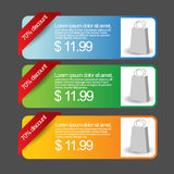 Colorful Web Banners Set. This is a  Template can be re-size without any resolution loss Stock Photography