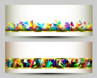 Colorful web banners templates. Abstract backgrounds. Colorful web banners templates with place for your text Royalty Free Stock Photo