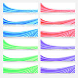 Colorful web business header footer banner set Stock Image