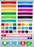 Colorful Web Button. Glossy web button and icon, Layered file in EPS 10 Stock Photography
