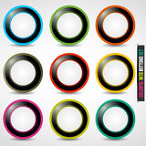Colorful web button set. Abstract background Royalty Free Stock Images