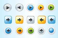 Colorful Web Button Vector Royalty Free Stock Image