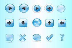 Colorful Web Button Vector Stock Image