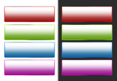 Colorful Web Buttons Stock Photography