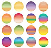 Colorful Web Buttons royalty free stock photography