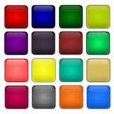 Colorful web buttons. Set of colorful square web buttons Royalty Free Stock Photography