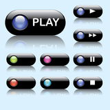 Colorful Web Buttons Stock Images