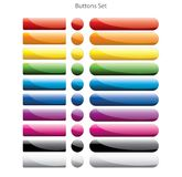 Colorful web buttons Royalty Free Stock Images