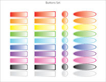 Colorful web buttons. Set of colorful web buttons royalty free illustration