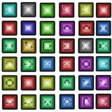 Colorful Web Buttons with arrows Stock Photo