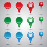Colorful web buttons, checkboxes Stock Photo