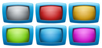 Colorful web buttons Stock Photo