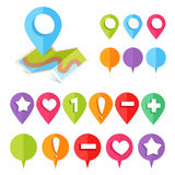 Colorful web buttons and pointers Royalty Free Stock Photo
