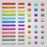 Colorful web buttons Stock Image