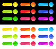 Colorful Web Buttons Template Royalty Free Stock Photos