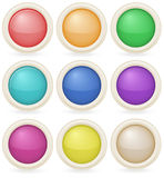 Colorful web design buttons Stock Images