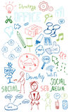 Colorful web doodles set Royalty Free Stock Photo