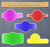 Colorful web elements with shadows Royalty Free Stock Photos