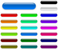 Colorful web empty buttons collection Stock Photography