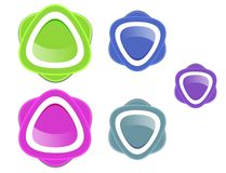 Colorful web icon Royalty Free Stock Photography