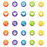 Colorful Web Icons 1 (Vector). Colorful Web Icons Set 1 (Vector) Round icons for web and print--easy to edit. No transparencies Vector Illustration