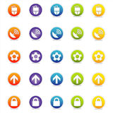Colorful Web Icons 2 (Vector). Colorful Web Icons Set 2 (Vector) Round icons for web and print--easy to edit. No transparencies royalty free illustration