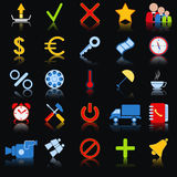 Colorful Web Icons Stock Images