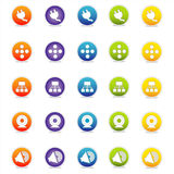 Colorful Web Icons 4 (Vector). Colorful Web Icons Set 4 (Vector) Round icons for web and print--easy to edit. No transparencies Vector Illustration