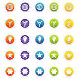 Colorful Web Icons 5 (Vector). Colorful Web Icons Set 5 (Vector) Round icons for web and print--easy to edit. No transparencies Royalty Free Stock Image
