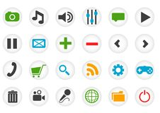 Colorful web icons in flat style. Vector illustration. Isolated in white background Stock Images