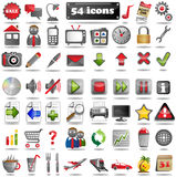 54 colorful Web Icons Stock Image