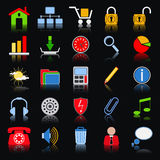 Colorful web icons Stock Photography
