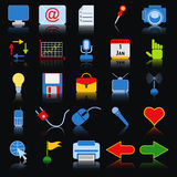 Colorful web icons Stock Image