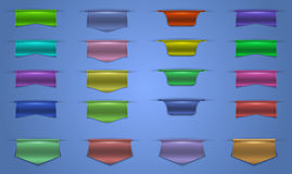 Colorful web ribbons collection Royalty Free Stock Image