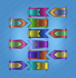 Colorful web ribbons collection Stock Photo