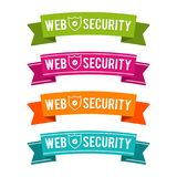 Colorful Web security ribbons. Eps10 Vector. Colorful Web security ribbons. Online internet security anti virus Eps10 Vector Royalty Free Stock Image