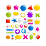 Colorful Web Shapes, Icons Stock Image