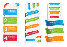 Colorful Web Stickers, Tags and Labels Royalty Free Stock Photography