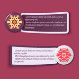 Colorful Web Stickers, Tags and Labels Royalty Free Stock Photos